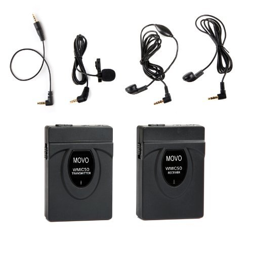 Movo WMIC50 2.4GHz Wireless Lavalier Microphone System