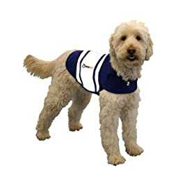 Thundershirt Dog Anxiety Treatment - Navy Blue Rugby (Medium)