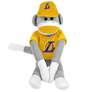NBA Los Angeles Lakers Uniform Sock Monkey by Forever Collectibles