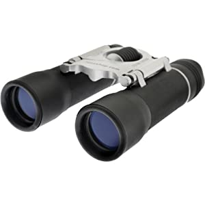 7dayshop Binoculars - Compact 10x25 DCF (Black & Silver) - TOP QUALITY GLASS OPTICS. With Case and Neck Strap