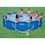 Intex 12ft x 30in Deep Metal Frame Pool with filter pump #28212