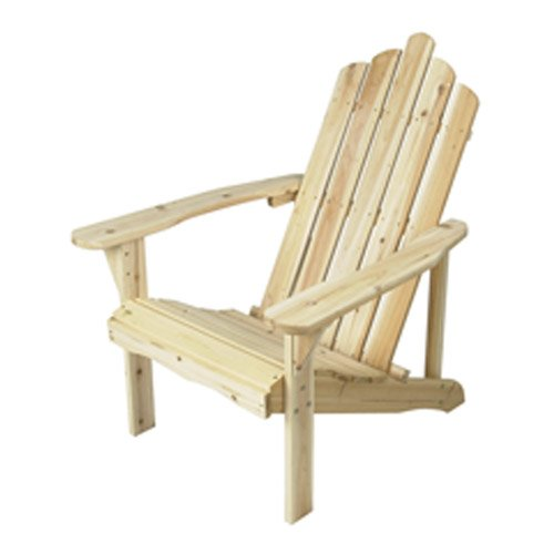 Astonica Fir Wood Adirondack Unfinished Chair