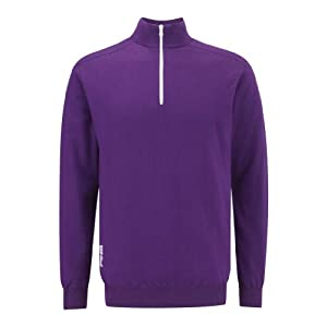Ping Mens Moore 1 4 Zip Lined Golf Sweater XX-Large Purple by Ping
