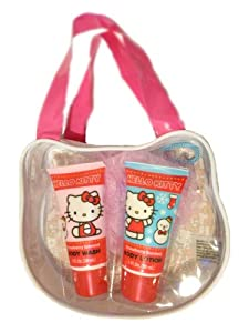 Hello Kitty Bath Tote with Loofah, Body Wash, and Body Lotion