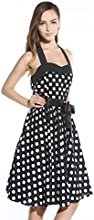 Yonger Vintage Polka Dot Halterneck Retro 50's 60's Rockabilly Cocktail Dresses