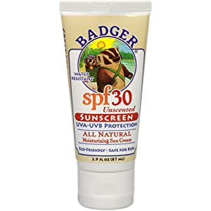 Click to read our review of Badger all Natural Sunscreen