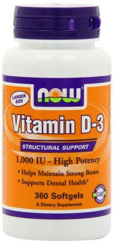 Vitamin D-3 1,000 IU - 360 Softgels (Liquid Vitamin D3 1000 Iu compare prices)