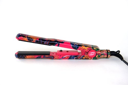 Iso Beauty Professional 450F Pink Tattoo Turbo Silk Titanium Flat Iron