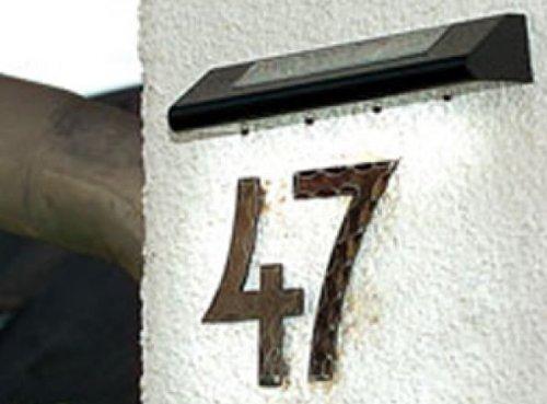 Solar House Number Sign Light