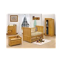 Alicante Nursery Room Set - Beech + FREE Glider Chair & Stool