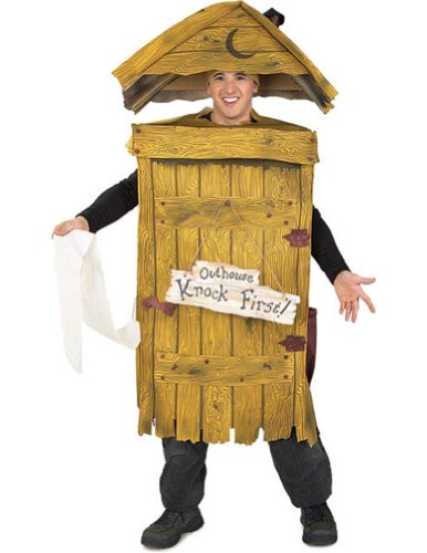 Adult-Costume Outhouse Costume Halloween Costume - Most Adults