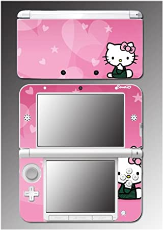 Hello Kitty Pink Hearts Princess Dress Girl Video Game Vinyl Decal Cover Skin Protector 4 Nintendo 3DS XL