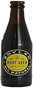 Boylan Root Beer Cane Sugar, Natural, 355 ml (Pack of 12)