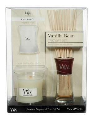 WoodWick Gift Sets Candles, Vanilla Bean