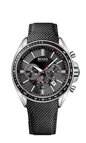 Hugo Boss - Orologio da polso, cronografo al quarzo, nylon