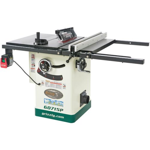 Grizzly G0715P Polar Bear Series Hybrid Table Saw with Riving Knife, 10-Inch