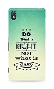 Amez Do what is Right Not what is Easy Back Cover For Sony Xperia Z3
