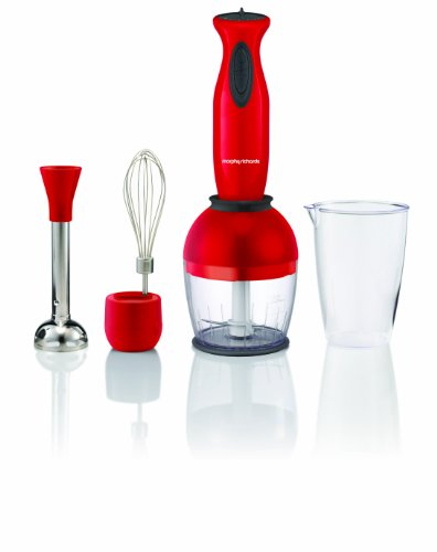 Morphy Richards Accents 48924 Hand Blender Set, Red by Morphy Richards