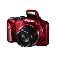 Canon PowerShot SX170 IS 16 MP Digital Camera - Red