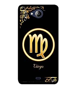 Fuson 2D Printed Sunsign Virgo Designer back case cover for Micromax Canvas Play Q355 - D4326