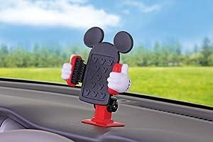 ナポレックス 車用スマホホルダー ディズニー・カーグッズ スマートフォンホルダー3D ミッキー 3Dホールドシステム ホールド幅90mm WD-275