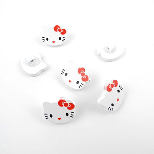 Arts-Crafts-Flatback-Colorful-Lovely-Clothing-Accessory-Decoration-Cute-Multi-Pattern-DIY-Accessories-Scrapbook-Sewing-Wood-Buttons-Supplies-NK1224-White-Hello-Kitty