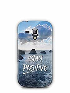 YuBingo Stay Positive Designer Mobile Case Back Cover for Samsung Galaxy S Duos 2