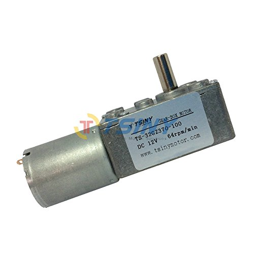 TSINY Electric 12vdc Reversible 64 Rpm Dc Gear Motor with Metal 6mm Shaft for DIY Parts from TSINY MOTOR