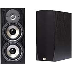 Polk Audio Monitor 45B 2-Way Bookshelf Speakers Pair - Black