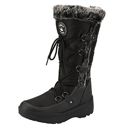 sibba-bottes-de-neige-pluie-femmess-bottes-fommes-boots-395-noir