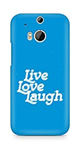 Amez Live Love Laugh Back Cover For HTC One M8