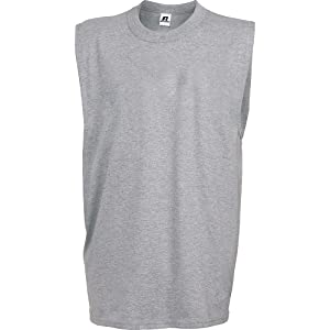 Russell Athletic Men's Muscle Shirt , Gray, L