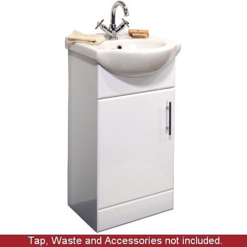 450mm White Bathroom Vanity Unit