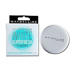 Maybelline New York White Super Fresh Compact Pearl (8g) (Pack of 2)