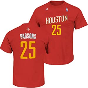 Houston Rockets Adidas NBA Chandler Parsons #25 Name And Number T-Shirt XL by adidas