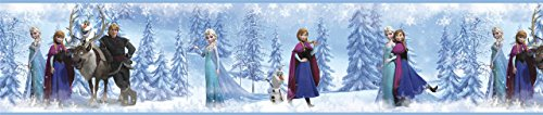 [Blue DISNEY FROZEN Peel & Stick WALLPAPER BORDER Elsa Anna Olaf Room Wall Décor :New free shipping by WW] (Animals That Start With The Letter T)