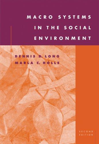 Macro Systems in the Social Environment (Human Behavior...