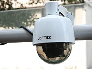 LOFTEK® Sentinel Wireless Pan/tilt 3x Optical Zoom Waterproof Outdoor & indoor Dome Wifi/Wirelss/Network/IP Camera. 4mm-9mm Lens, Viewing Angle: 30°-69°, Pan/Tilt Angle: 355°/90°. White