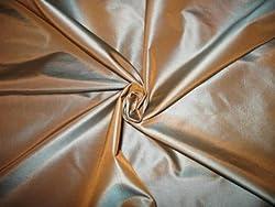 100% Silk Taffeta - Golden Sapphire