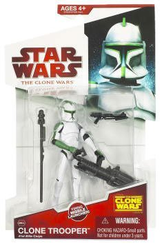 Buy Low Price Hasbro Star Wars 2009 Clone Wars Animated Action Figure Clone Trooper 41st Elite Corp (Green Deco) (B002IZD7A0)