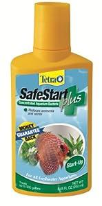 Tetra 77962 SafeStart Plus for 70-gallon Tank, 250-ml, 8.45-Ounce