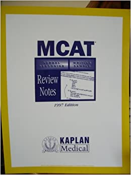 mcat writing The medical college admission test (mcat) assesses mastery of basic scientific concepts, problem solving, and critical thinking, as well as general writing skills.