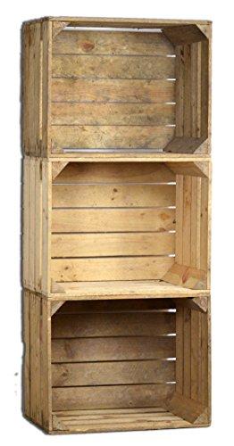 3-Set-Vintage-Holzkiste-alte-Obstkiste-Weinkiste-Natur-Used-Look