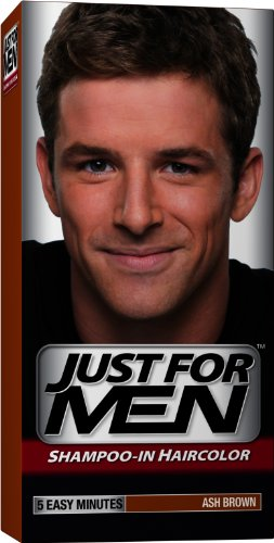Just for Men Shampoo-In Hair Color, Ash Brown 20, 1 application, (Pack of 3)