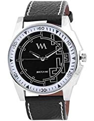 Watch Me Black Genuine Leather Analogue Watch For Men WMAL-064-BK