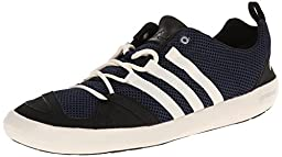 adidas Outdoor Unisex Climacool Boat Lace Water Shoe, Colonel Navy/Chalk White/Black, 9.5 M US