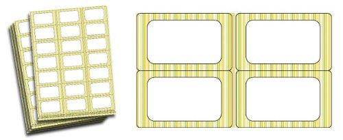 Citron et citron vert rayé étiquettes pour bocaux de confiture Lot de 63)