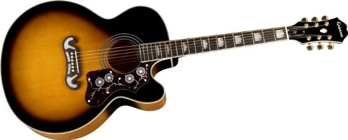 epiphone ej 200ce acoustic electric guitar shadow preamp vintage sunburst used guitars for sale. Black Bedroom Furniture Sets. Home Design Ideas