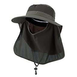 UV 50+ Talson Large Bill Flap Hat with Detachable Inner Flap - Olive OSFM