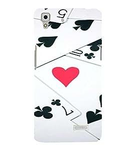 PrintVisa Gambler Hearts Design 3D Hard Polycarbonate Designer Back Case Cover for Oppo R7